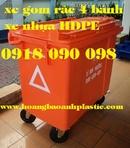 Tiền Giang: xe đẩy rác bằng composite, xe rác 660 lít, xe rác công cộng, xe rác công nghiệp CL1701828