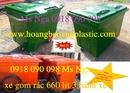 Bình Dương: bán xe rác 660 lít, xe rác composite 660 lít, xe rác nhựa composite, xe đẩy rác CL1701743