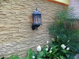 Cung cấp gạch cổ nâu ốp tường sân vườn nhà ở
