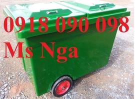 chuyên bán xe gom rác 660 lít, xe rác compoiste 660 lít, xe gom rác, xe đẩy rác