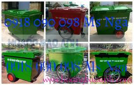chuyên bán xe chứa rác, xe rác 660 lít, thùng đựng rác 660 lít, xe gom rác 660 lí