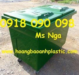 chuyên bán xe thu gom rác , xe rác composite 660 lít, xe rác 1000 lít, xe đẩy rá