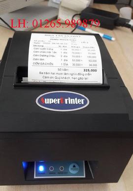 Máy in bill thanh toán in bằng hình thức in nhiệt tại Ninh Kiều