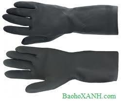 Bán găng tay cao su chống acid