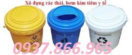 xô đựng kim tiêm, thùng rác y tế 60lit, túi rác thải nguy hại giá rẻ