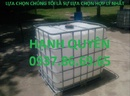 Thái Nguyên: bồn chứa ,thùng nhựa màu trắng 1000lit, tank nhựa 1000lit giá cạnh tranh CL1702337
