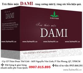 Trà Dami tăng cường sinh lực, tăng sung mãn một cách tự nhiên