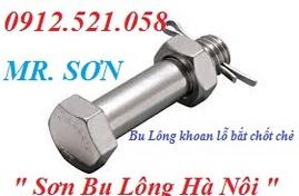 Bán Bu Lông khoan lỗ chốt chẻ Hà Nội 0912.521.058 chốt chẻ thép & Inox