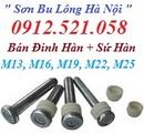 Tp. Hà Nội: Bán bu lông đinh hàn M19,13, 16,22, 25 Hà Nội 0912. 521. 058 Sơn BOLT Ha Noi CL1702560