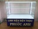 Tp. Hồ Chí Minh: bán tủ kiếng trưng bày 1M2 còn rất mới đã có đèn led và dàn đế tủ chắc chắn. CL1703045