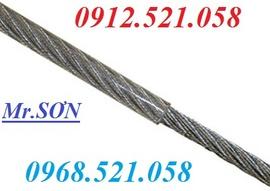 """Dây cáp Inox sus 304 bọc nhựa 6 mm (6 Ly) Hà Nội 0968.521.058 """"Sơn cáp"""" HN"""