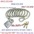 Tp. Hà Nội: Bán khoá xe máy dây cáp thép bọc nhựa 0947. 521. 058 Sơn Cáp HÀ NỘI bán CL1702631