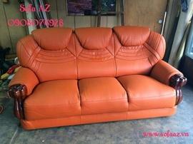 Sofa AZ bọc ghế da bò ý, sửa ghế sofa da bò cao cấp tại Tân Bình