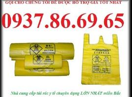 túi rác nguy hại màu vàng, thùng rác đạp chân 15l, hộp sắc nhọn 6lit