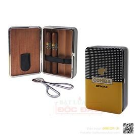 Giá set phụ kiện xì gà: hộp đựng xì gà, kéo cắt xì gà H520?