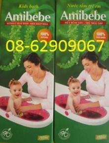 Nước tắm Hiệu AMIBEBE-giúp em bé Hết rôm sảy, ăn tốt ngủ tốt- giá rẻ