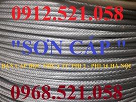 """Dây cáp Inox 304 bọc nhựa phi 6 bán Hà Nội 0947.521.058 """"Sơn cáp Ha Noi """""""