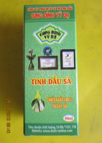 Tinh dầu SẢ, chất lượng- Dùng lúc nhức đầu, cảm mạo, nhức mỏi, khử mùi