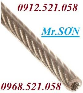 Bảng báo giá dây cáp bọc nhựa rẻ nhất Hà Nội 0912.521.058 khoá xe 10m