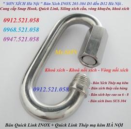 Khoá nối xích thép mạ kẽm M6 bán Hà Nội 0912.521.058 Quick Link Inox D6