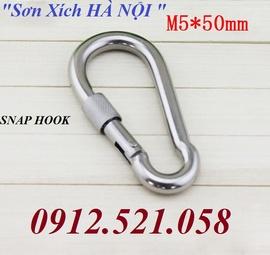 Bán móc khoá bấm an toàn thép & Inox Ha Noi 0913.521.058 Snap Hook