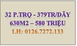 Sang gấp 32 P. trọ đang KD chỉ 379TR/ DÃY và 630M2 giá 580TR. LH 0126. 7272. 133