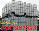 Tp. Hà Nội: thung nhua trang 1000l, tank dung hoa chat, bon nhua gia re, tank nhua IBC, tank nhu CL1703482