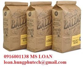 chuyên sản xuất túi giấy kraft đựng cà phê 50g, ... 1kg giá rẻ tphcm 0916001138 Ms