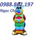 Tp. Hà Nội: thung rac con thu, thung rac truong hoc, thung rac benh vien, thung rac 120l, CL1703482