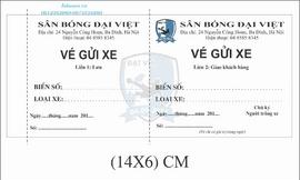 Địa chỉ in vé xe, vé trông xe, vé xe giá rẻ quận Cầu Giấy, Đống Đa, Thanh Xuân