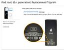 iPod Nano lỗi pin: Apple thay thế miễn phí NEWS8629
