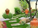 Đồ gốm dân tộc tô điểm cho ngoại thất nhà vườn RSN7381